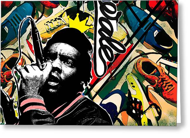Sneakers Digital Art Greeting Cards - King Wale  Greeting Card by Lyriq Hill