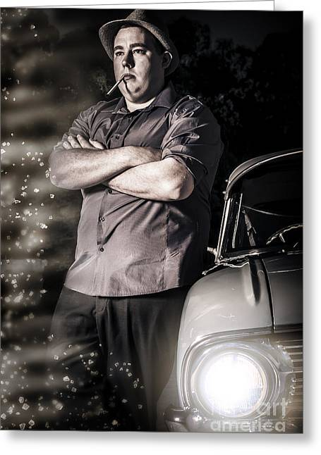Kingpin Hitman Executing A Planned Assassination Greeting Card by Jorgo Photography - Wall Art Gallery