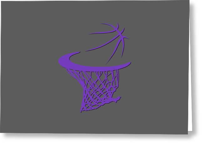 Basket Ball Greeting Cards - Kings Basketball Hoop Greeting Card by Joe Hamilton