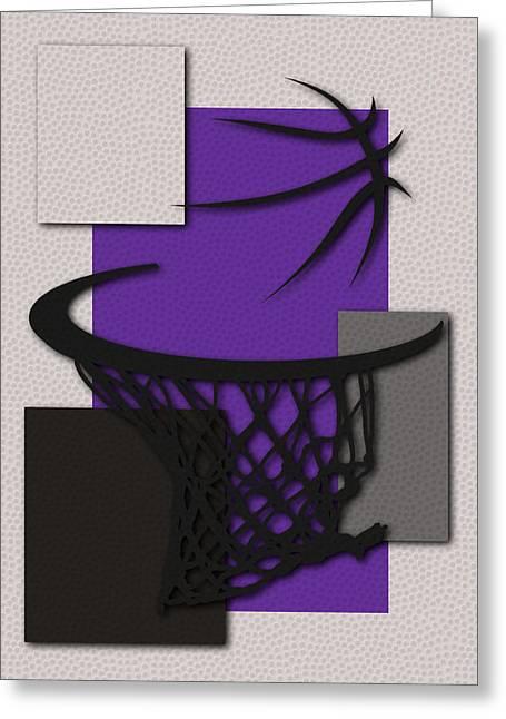 Basket Ball Greeting Cards - Kings Hoop Greeting Card by Joe Hamilton