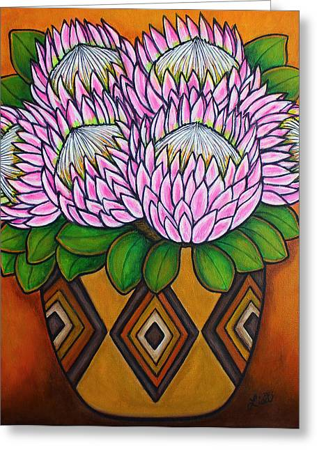 Proteas Greeting Cards - Kings of the Cape Greeting Card by Lisa  Lorenz