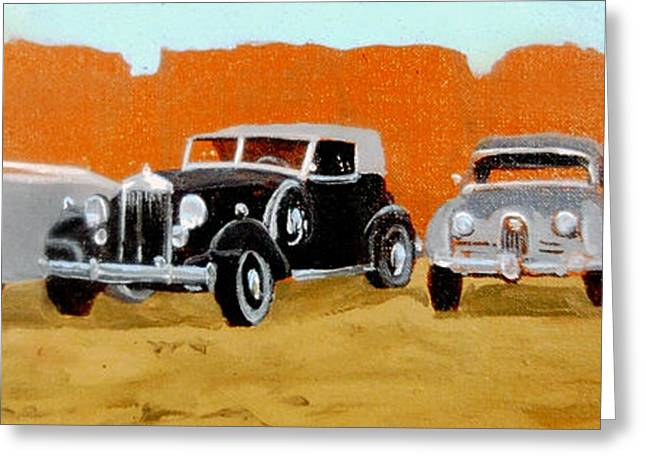40s Paintings Greeting Cards - Kings of the Road Greeting Card by David Zimmerman