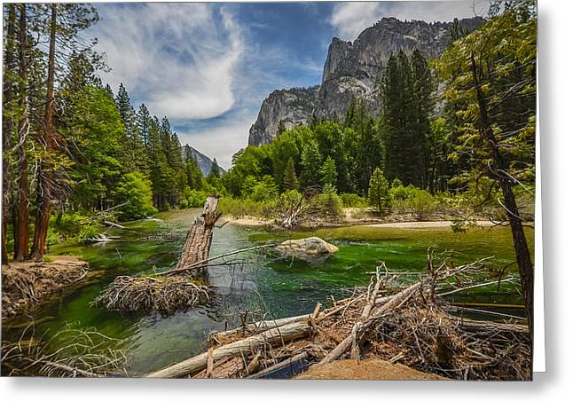 Fall Scenes Greeting Cards - Kings river and the grand sentinel Greeting Card by Asif Islam