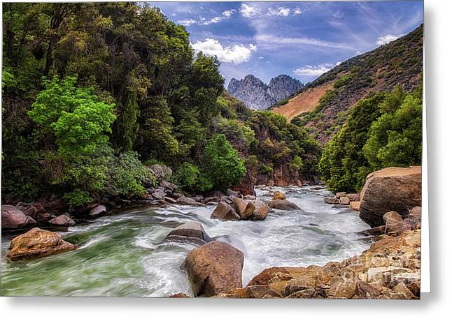 Kings Canyon Greeting Cards - Kings River Greeting Card by Anthony Bonafede
