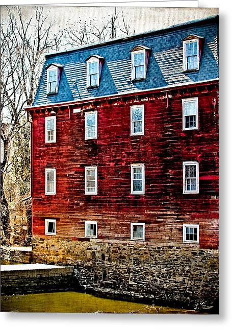 Grist Mill Greeting Cards - Kingston Mill Greeting Card by Colleen Kammerer