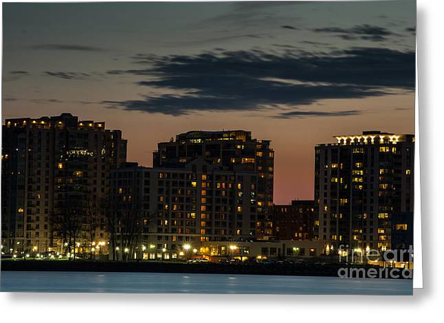 Kingston Greeting Cards - Kingston Skyline Greeting Card by Ron Pettitt