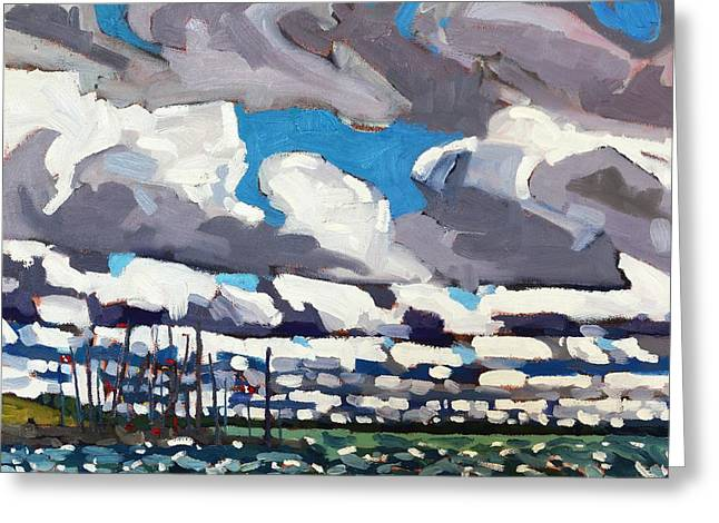 Kingston Waterfront Greeting Card by Phil Chadwick