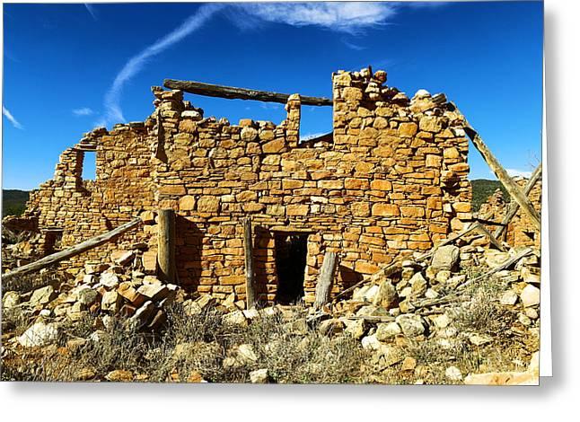 Kinishba Ruins Greeting Card by Jeff Swan