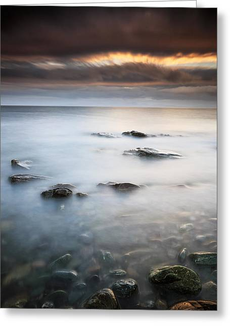 Scotland Landscape Greeting Cards - Kintyre Coastal Sunset Greeting Card by Grant Glendinning