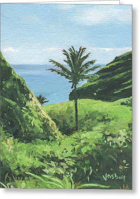 Kipahulu Palm Maui Greeting Card by Stacy Vosberg
