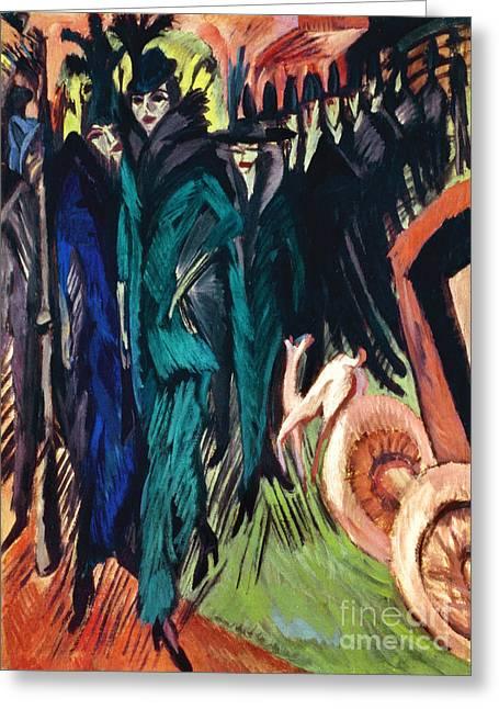 Kirchner: Street Scene Greeting Card by Granger