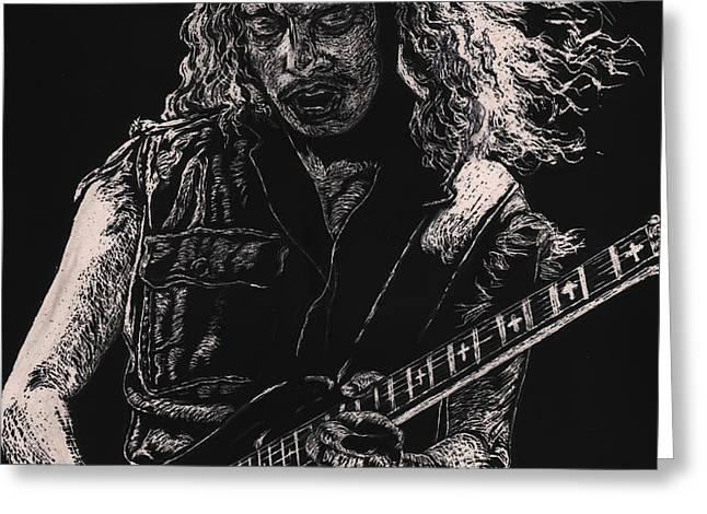 Kirk Hammett Greeting Card by Kathleen Kelly Thompson