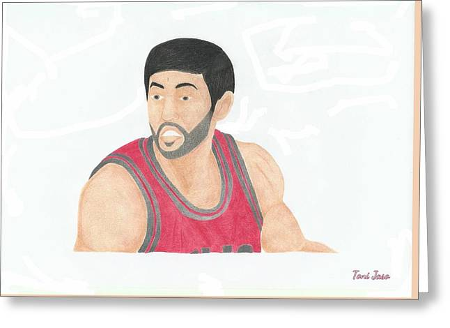 Slam Drawings Greeting Cards - Kirk Hinrich  Greeting Card by Toni Jaso