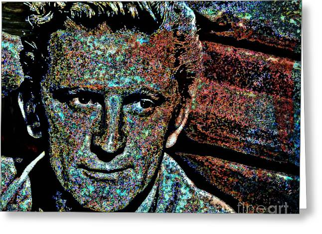 Kirk Douglas Greeting Cards - Kirk  Greeting Card by Wbk