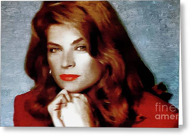 Kirstie Alley - Actress Greeting Card by Ian Gledhill