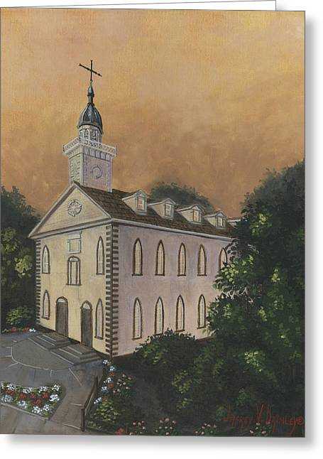 Kirtland Temple Greeting Card by Jeff Brimley