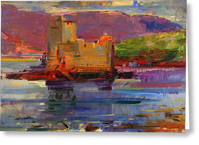 Moat Mountain Greeting Cards - Kisimul Castle and Vatersay Greeting Card by Peter Graham