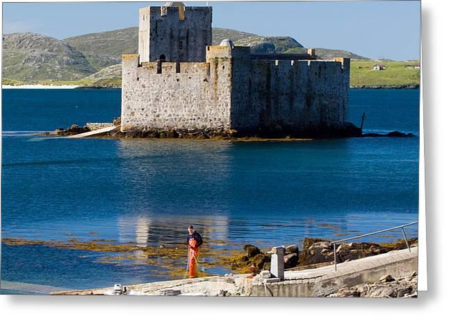 Western Isles Greeting Cards - Kisimul Castle Isle of Barra Greeting Card by John McKinlay