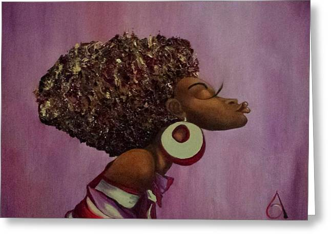 African-americans Greeting Cards - Kissandra Greeting Card by Adelle  Reardon