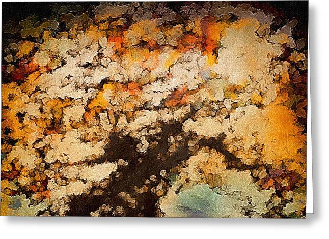 Mystic Art Greeting Cards - Kissed by Autumns Winds Greeting Card by Susan Maxwell Schmidt