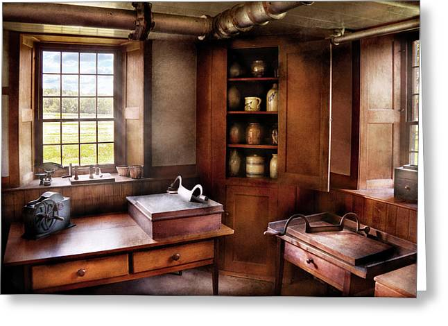 Kitchen - Nothing ordinary Greeting Card by Mike Savad
