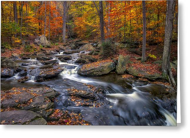 Water Over Rock Greeting Cards - Kitchen Creek Greeting Card by Mark Papke