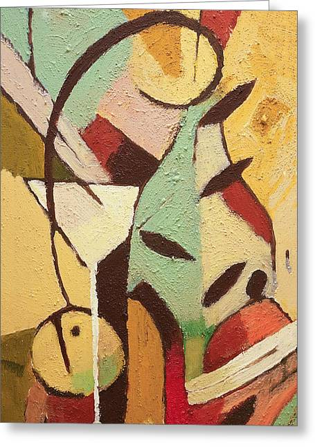 Abstract Food Greeting Cards - Kitchen Deco Greeting Card by Lutz Baar
