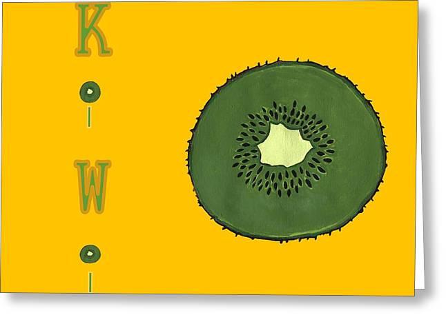 Kitchen Kiwi Greeting Card by Kathleen Sartoris