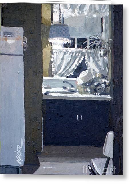 Sink Greeting Cards - Kitchen Sink Greeting Card by Donald Maier