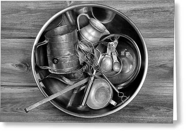 Stainless Steel Greeting Cards - Kitchen Utensils Still Life I Greeting Card by Tom Mc Nemar