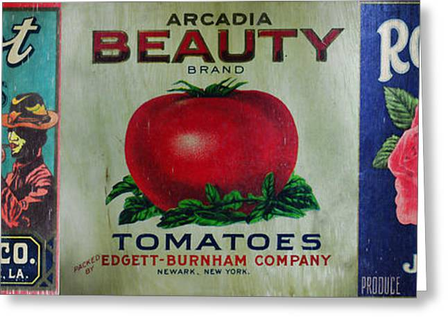Kitchen - Vintage Food Crate Signs  Greeting Card by Paul Ward
