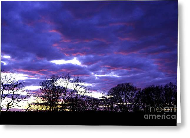 Renewing Greeting Cards - Kitchen Window Sunset Greeting Card by Joe Geraci