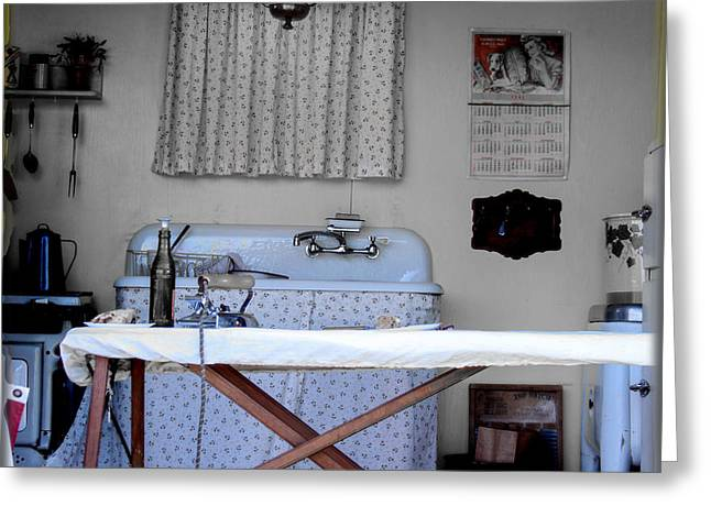 Ironing Board Greeting Cards - Kitchen Works 1942 Greeting Card by Steven  Digman