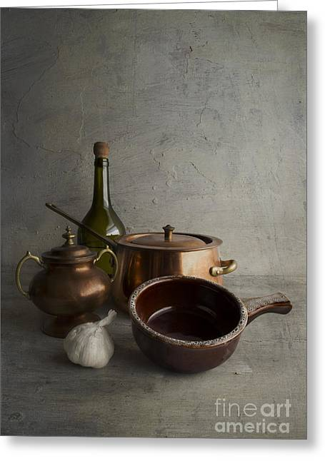 Interior Still Life Photographs Greeting Cards - Kitchenware Greeting Card by Elena Nosyreva