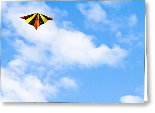 Vibrant Photographs Greeting Cards - Kite Greeting Card by Anya Brewley schultheiss