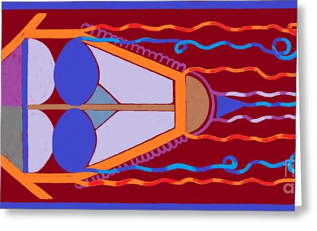 Kite Greeting Cards - Kite Greeting Card by Celeste Acevedo Garat