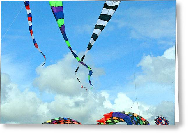 Kite Festival at Lincoln City Oregon Greeting Card by Margaret Hood