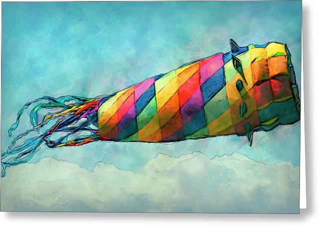 Kite Greeting Card by Jack Zulli