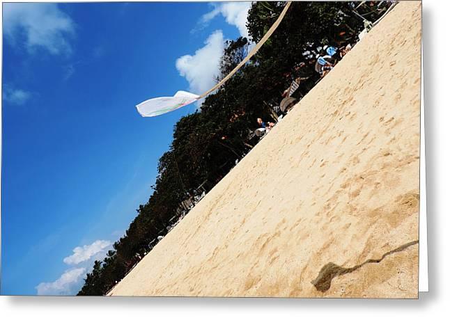 Kite Greeting Card by Leena Kewlani