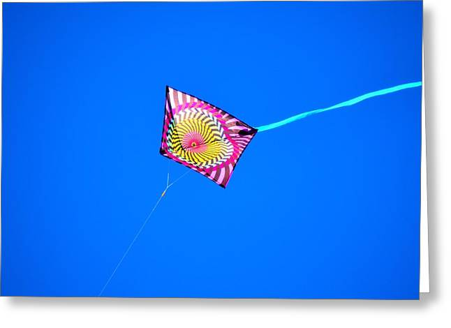 Kite Greeting Cards - Kite of Many Colors Greeting Card by D S Images
