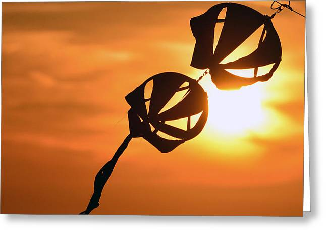 Kite Art Greeting Cards - Kite on a string Greeting Card by David Lee Thompson