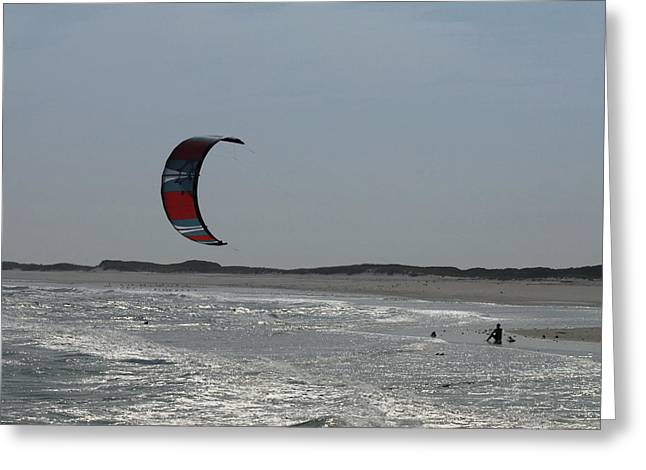 Wind Surfing Print Greeting Cards - Kite Surfing 17 Greeting Card by Joyce StJames