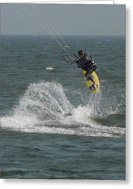 Wind Surfing Print Greeting Cards - Kite Surfing 20 Greeting Card by Joyce StJames