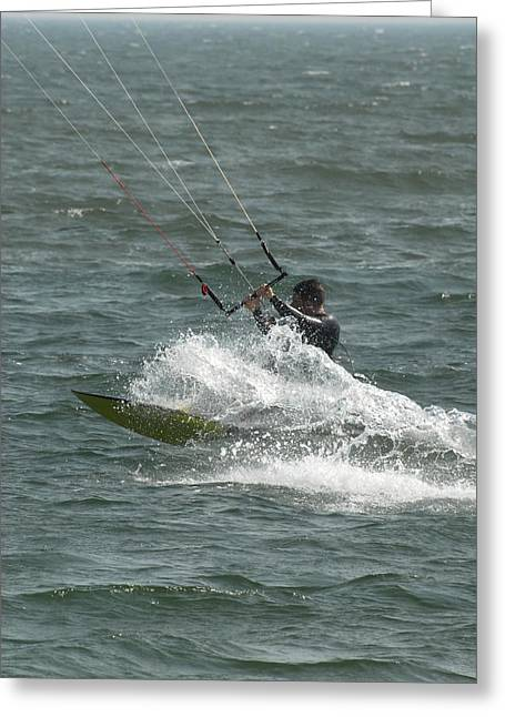 Wind Surfing Print Greeting Cards - Kite Surfing 21 Greeting Card by Joyce StJames