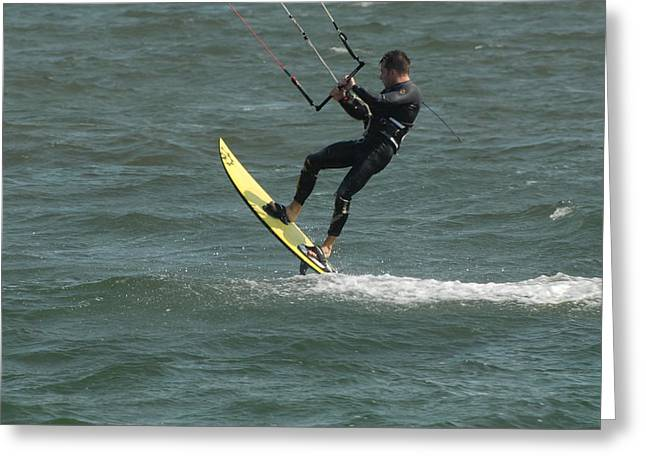 Wind Surfing Print Greeting Cards - Kite Surfing 27 Greeting Card by Joyce StJames