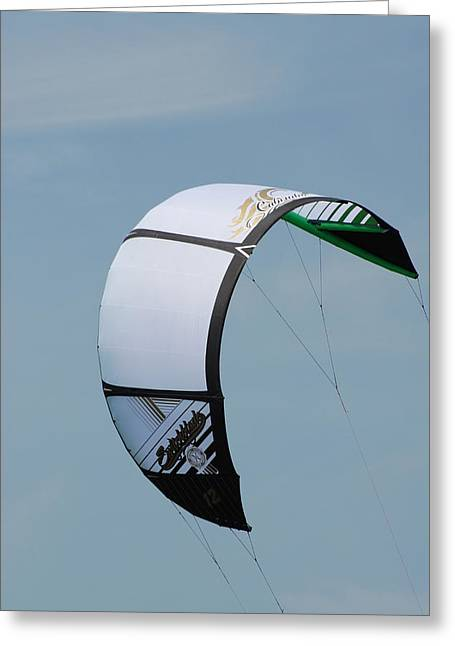 Wind Surfing Print Greeting Cards - Kite Surfing 33 Greeting Card by Joyce StJames