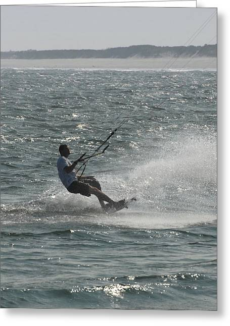 Wind Surfing Print Greeting Cards - Kite Surfing 7 Greeting Card by Joyce StJames