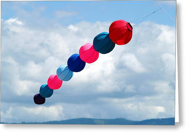 Kite Greeting Cards - KiteFlying6 Greeting Card by Robert Trauth