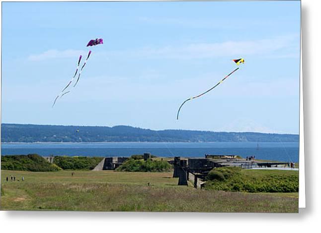 Kite Greeting Cards - Kites Greeting Card by Linda Kerkau