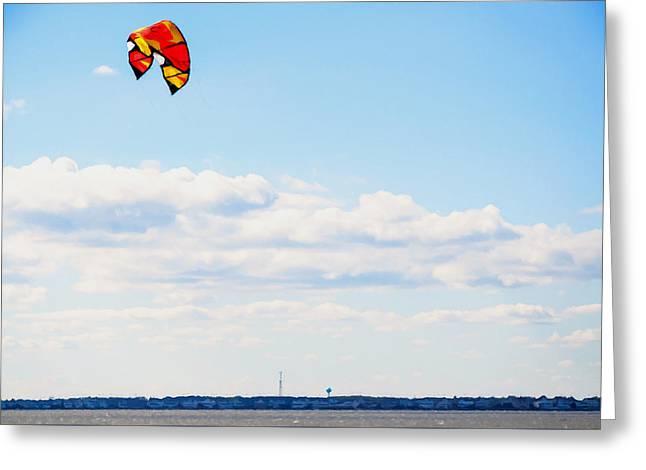 Kiteboarding Paintings Greeting Cards - Kitesurfers 4 Greeting Card by Lanjee Chee
